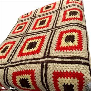 Granny Square Afghan throw blanket